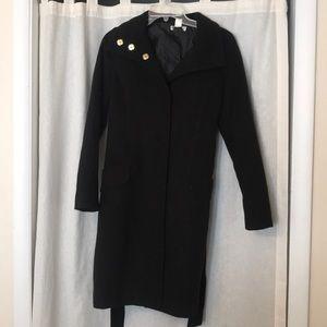 H&M Black overcoat.